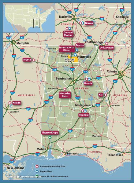 Maps Of Decatur Hartselle Morgan County Alabama North